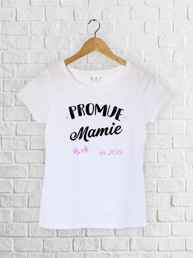T-shirt Promue mamie rose personnalisé