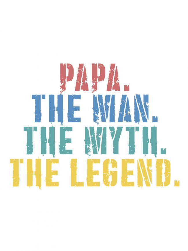 T-shirt Papa the legend