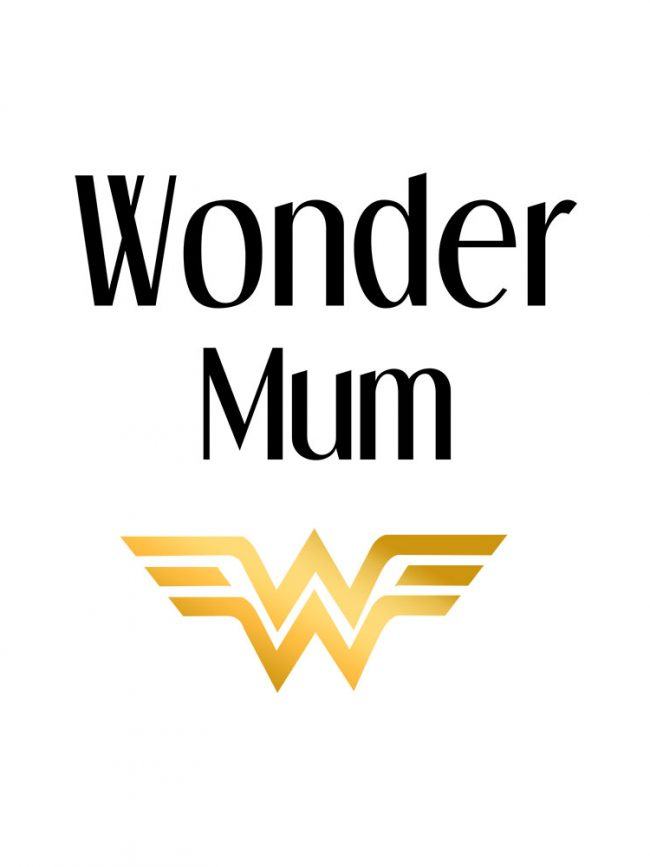 Tote bag Wonder mum