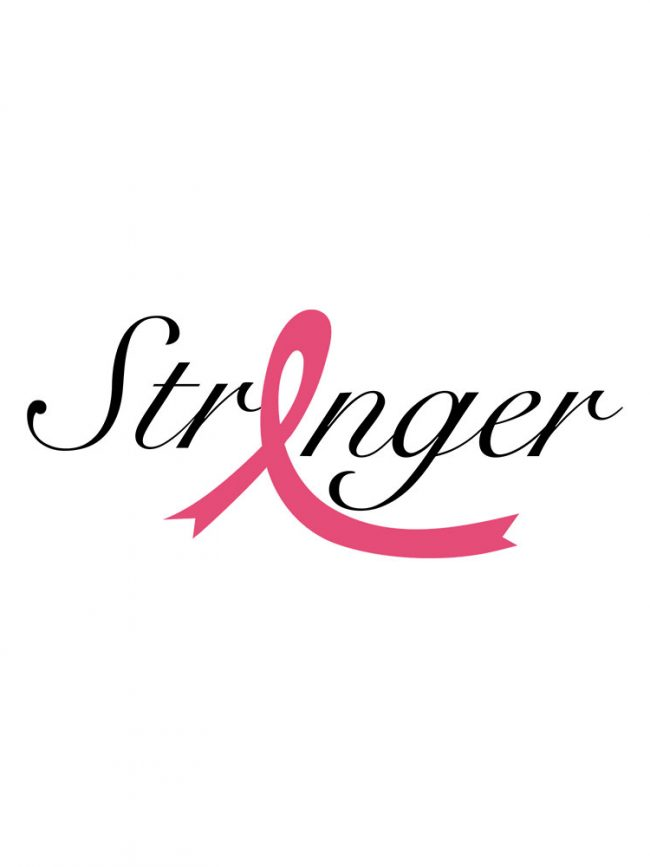 Tote bag Stronger 1 – Ruban rose