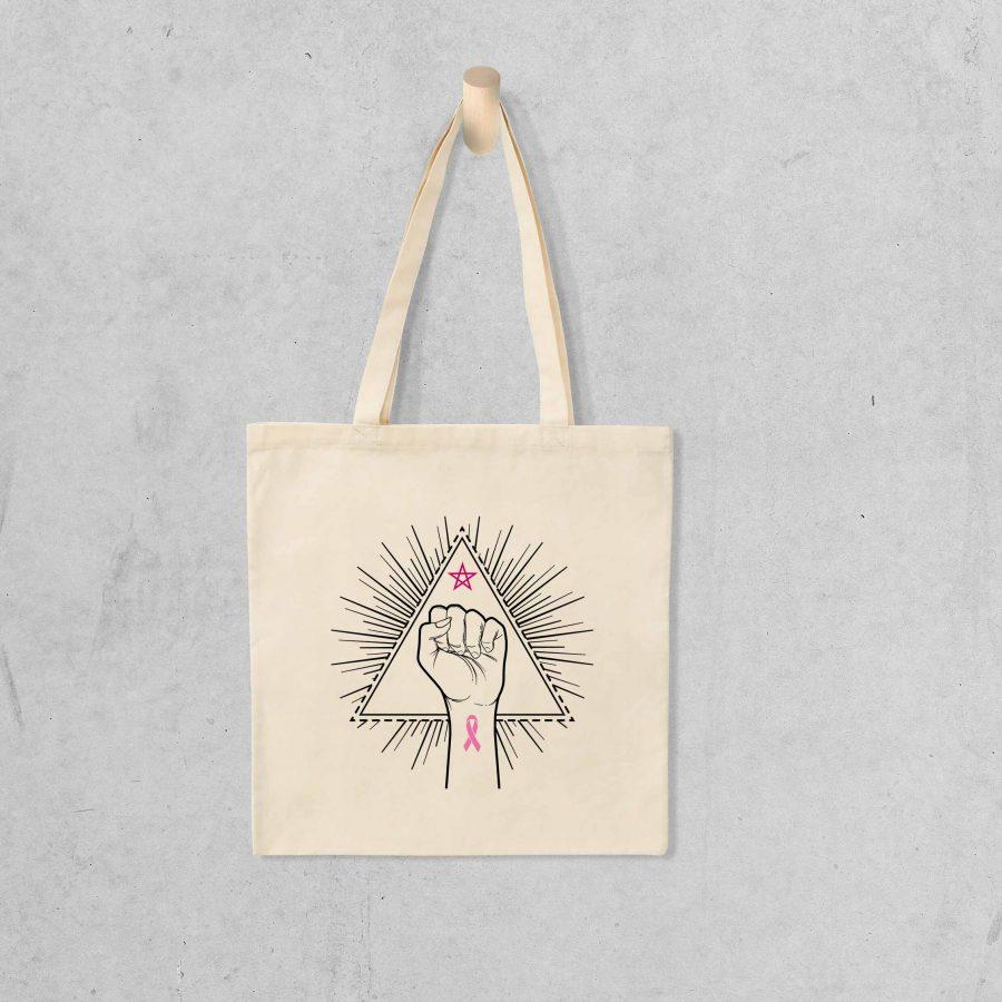 Tote bag Fight like a girl – Ruban rose