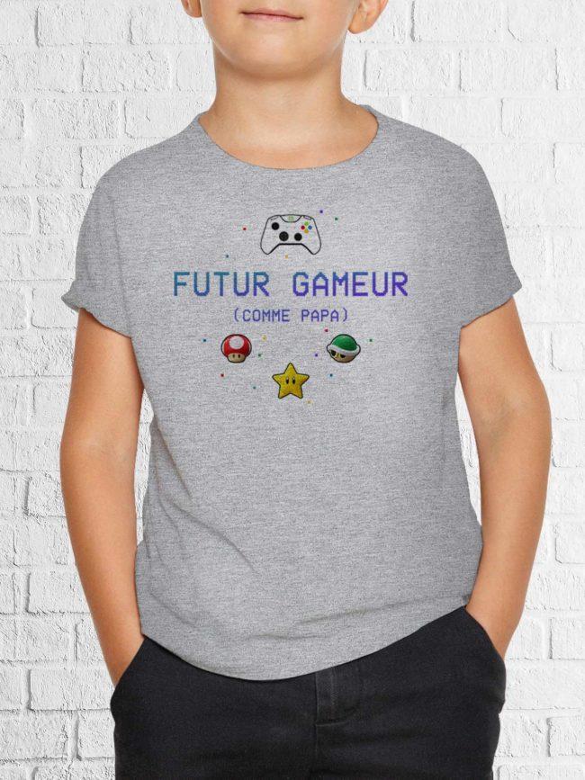 T-shirt futur gameur