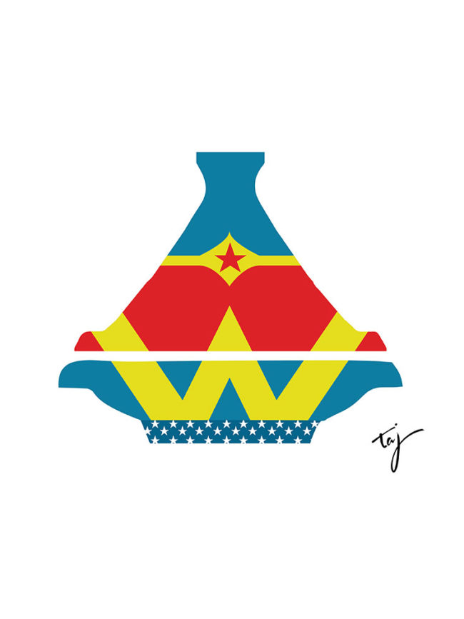 T-shirt Wonder woman Tajine