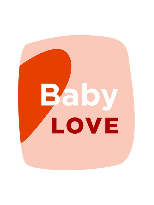 T-shirt Love baby