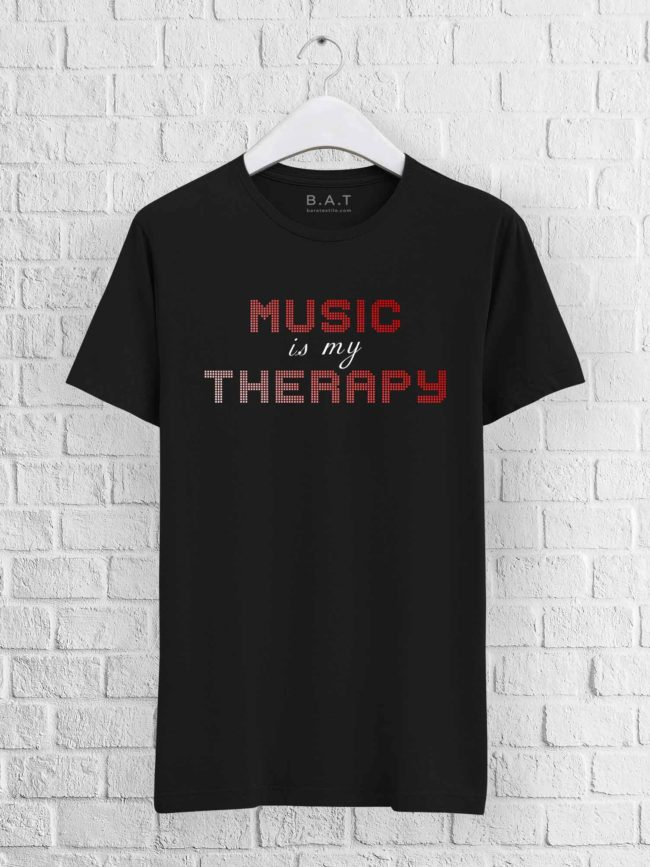 T-shirt Music is my therapy