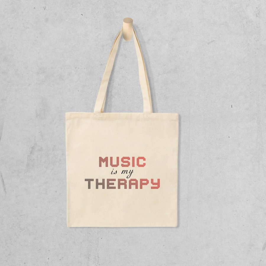 Tote bag Music is my therapy