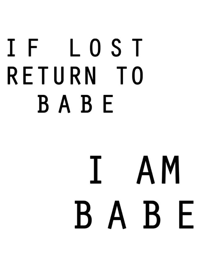If lost babe personnalisé – Matchy