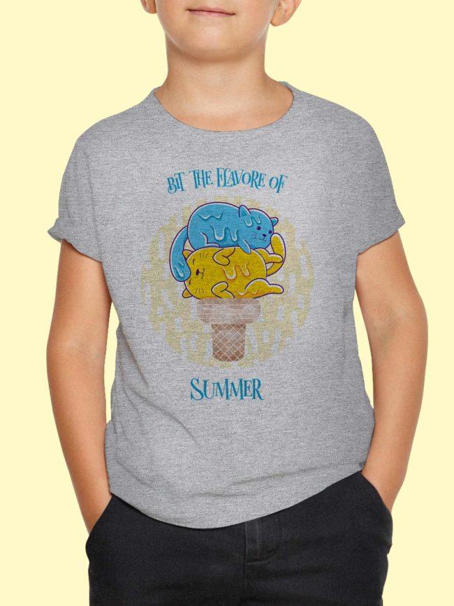 T-shirt Chat glacé