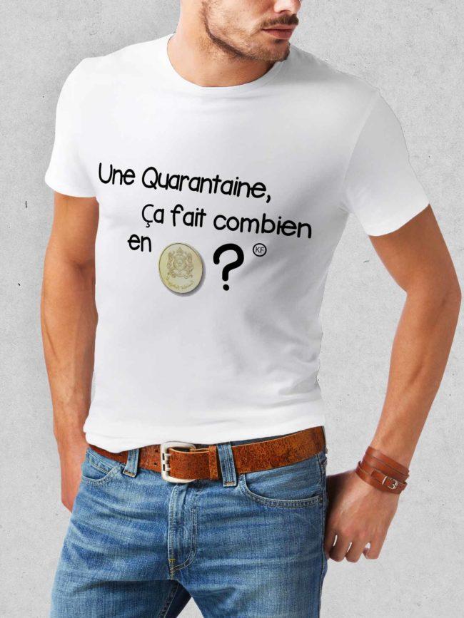 T-shirt Quarantaine en riel
