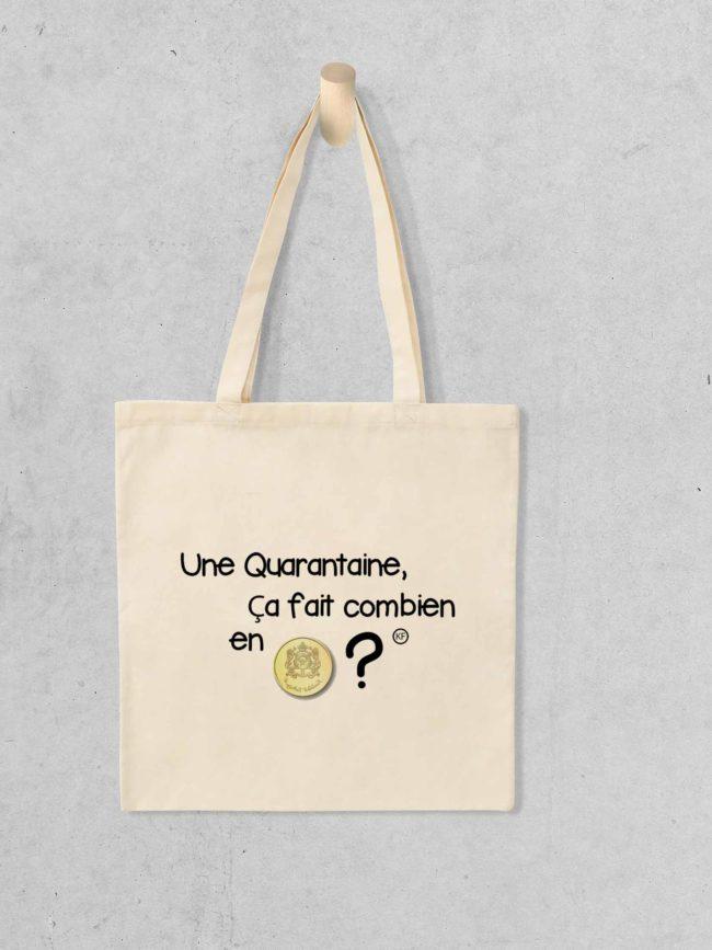Tote bag Quarantaine en riel