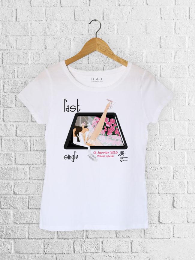 T-shirt EVJF Last night single