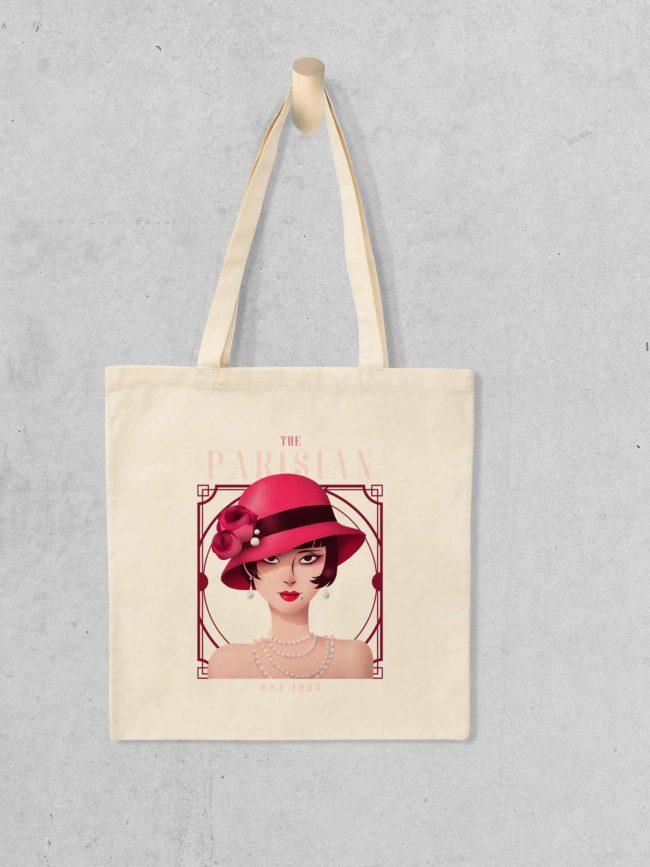 Tote bag The Parisian