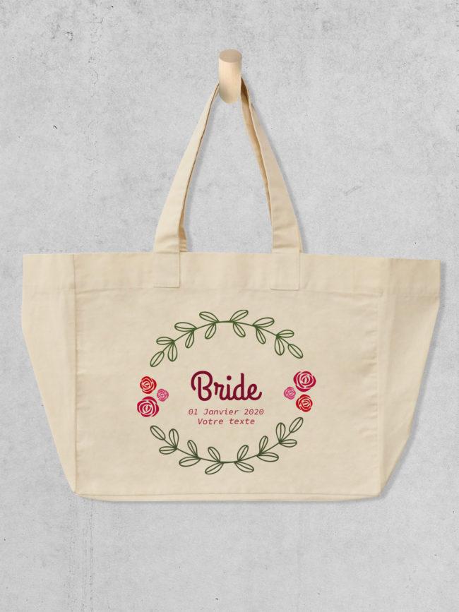 Cabas EVJF Bride flower