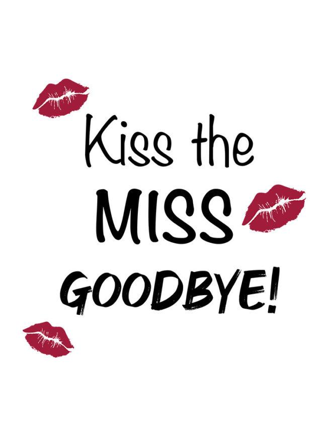 T-shirt EVJF Miss goodbye