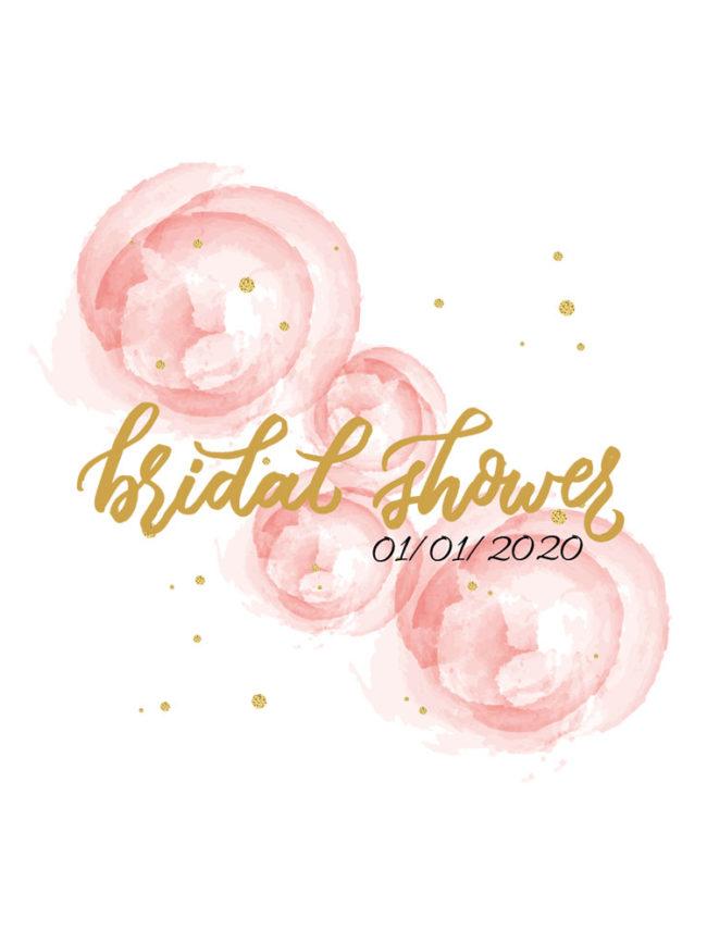 Pochette EVJF Bridal shower pastel