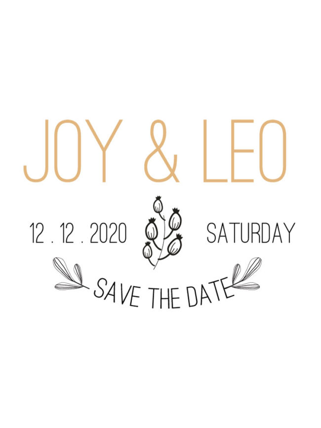 Tote bag Save the date 8