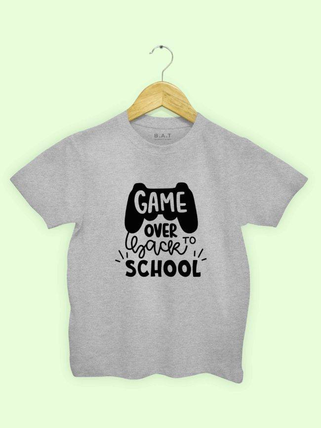 T-shirt Game over back to school