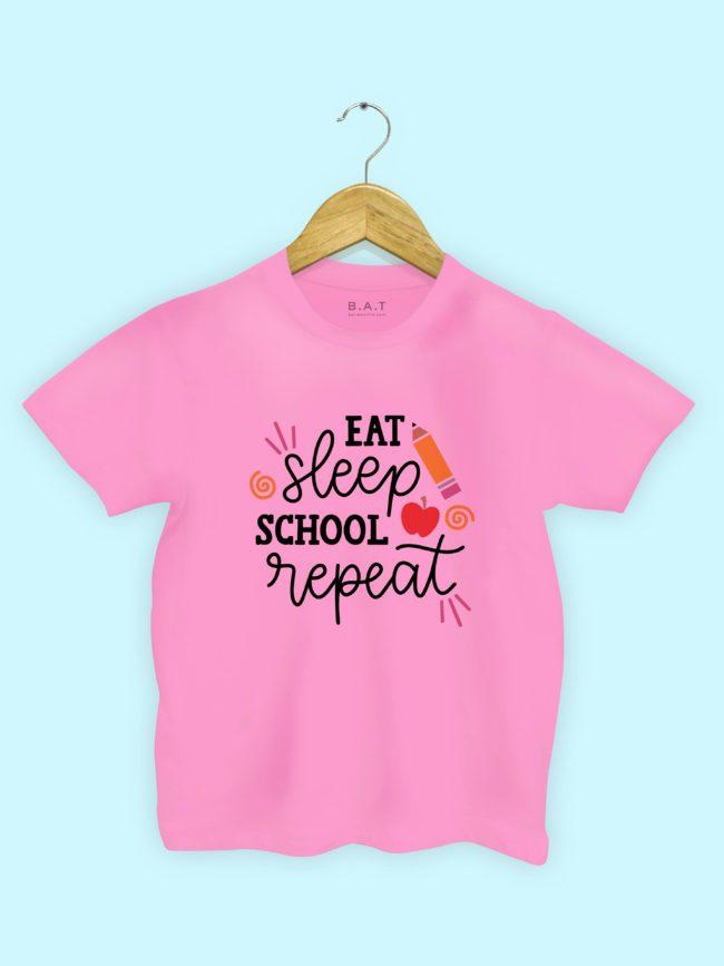 T-shirt Eat Sleep School Repeat