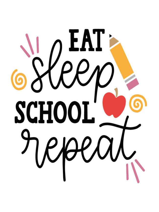 Pochette Eat Sleep School Repeat