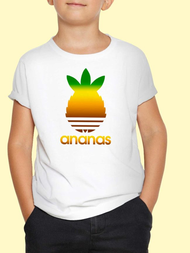 T-shirt Ananas coloré