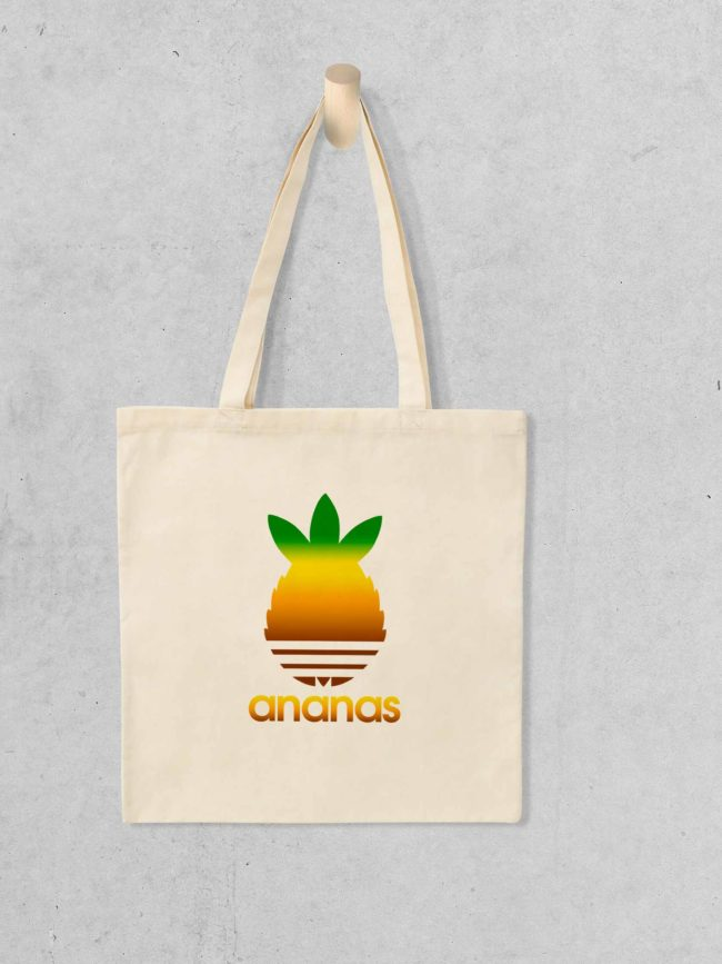 Tote bag Ananas coloré