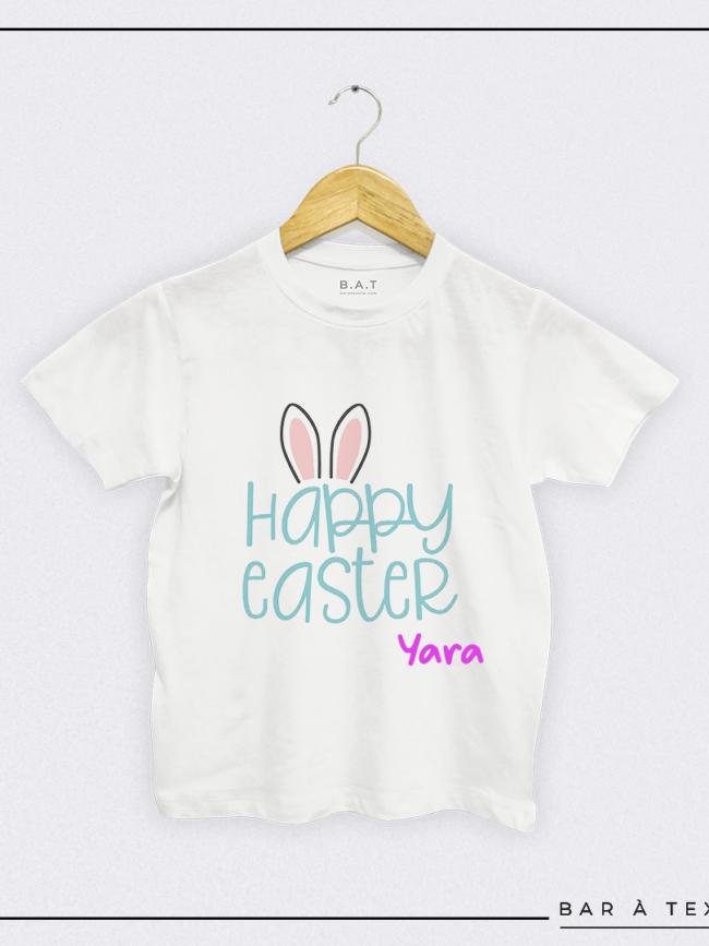 T-shirt Happy Easter personnalisé