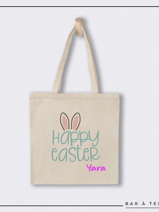 Tote bag Happy Easter personnalisé