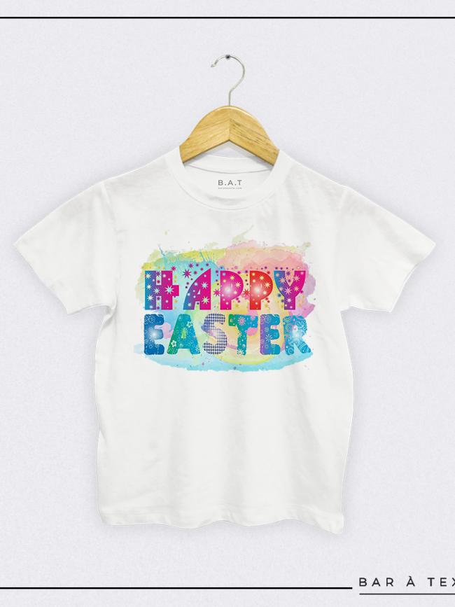 T-shirt Happy Easter coloré