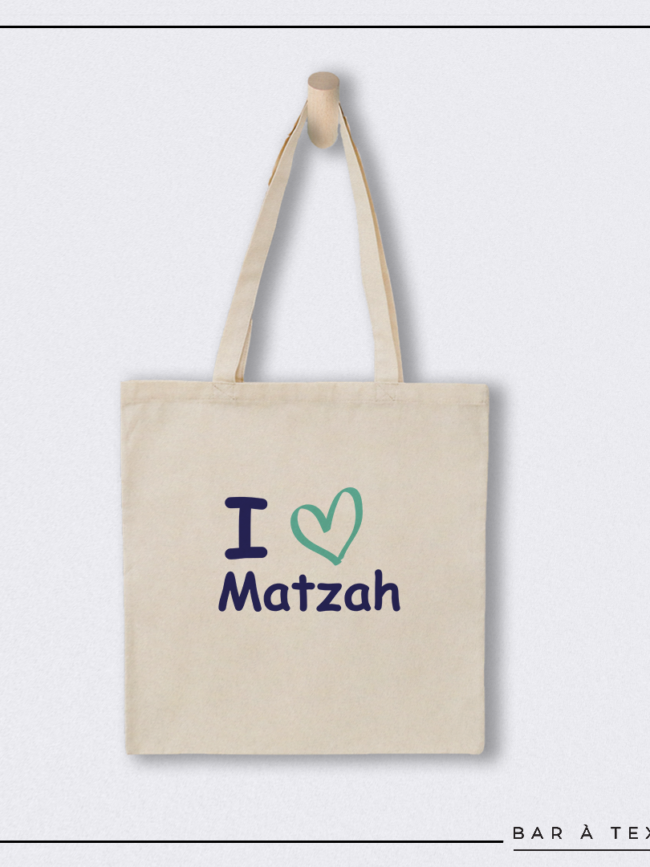 Tote bag I love Matzah