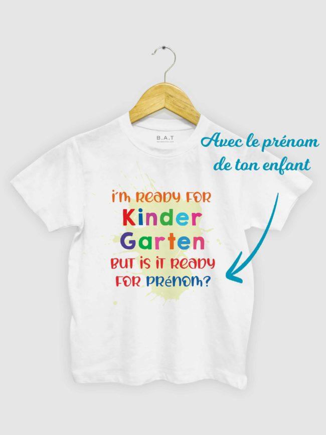 T-shirt Ready for Kindergarten