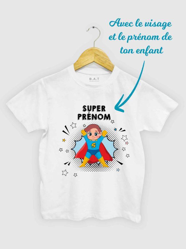 T-shirt SuperHero Personnalisable