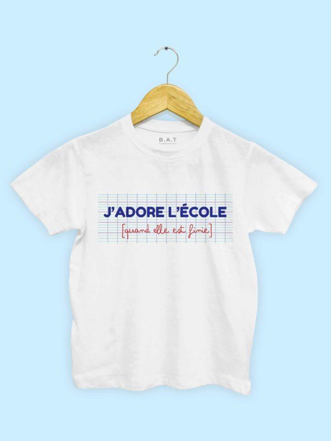T-shirt J'adore l'école