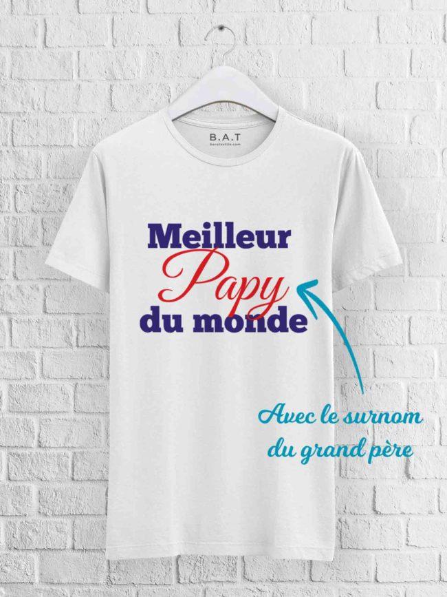 T-shirt Meilleur papy du monde
